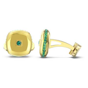 Manžetové knoflíky Theo Earth Element, zelené, pozlacené - Swarovski, 5569062