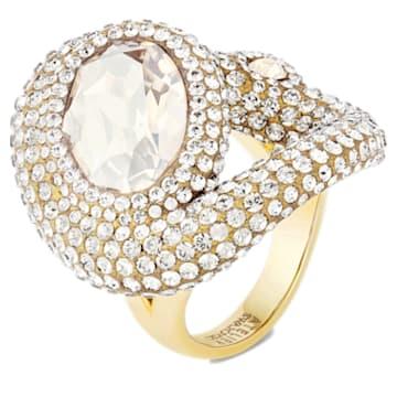 Tigris 戒指, 白色, 镀金色调 - Swarovski, 5569105