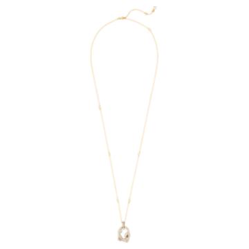 Tigris 链坠, 水滴, 灰色, 镀金色调 - Swarovski, 5569106