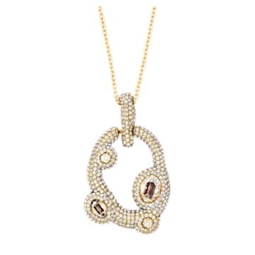 Tigris pendant, Water droplets, Gray, Gold-tone plated - Swarovski, 5569106