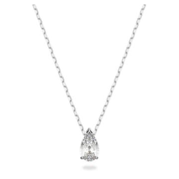 Attract Set, Kristall im Pear-Schliff, Weiss, Rhodiniert - Swarovski, 5569174