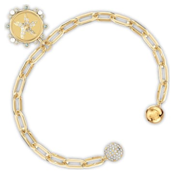 The Elements Star Bracelet, White, Gold-tone plated - Swarovski, 5569181