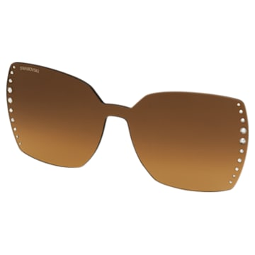 Swarovski Click-on Modell für Swarovski Brille, braun - Swarovski, 5569401