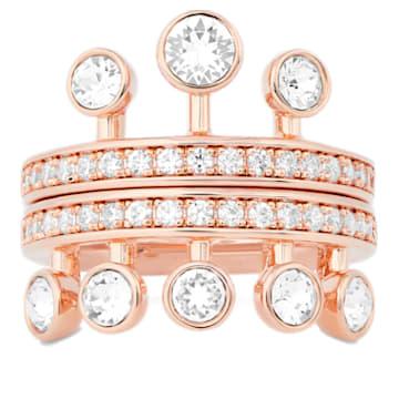 Anello Theater , bianco, placcato color oro rosa - Swarovski, 5569508
