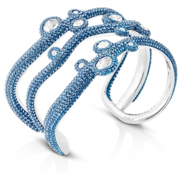 Manchette Tigris, aiguemarine turquoise, métal plaqué palladium - Swarovski, 5569516