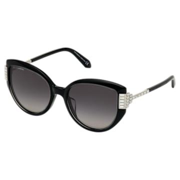 Fluid Cat Eye Sonnenbrille, schwarz - Swarovski, 5569895