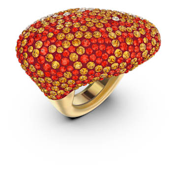 The Elements-ring, Oranje, Goudkleurige toplaag - Swarovski, 5570163
