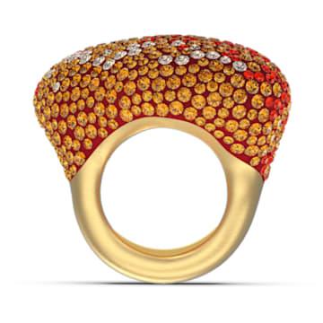 Pierścionek The Elements, pomarańczowy, powłoka w odcieniu złota - Swarovski, 5570163