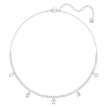 Tennis Deluxe Mixed Set, White, Rhodium plated - Swarovski, 5570195