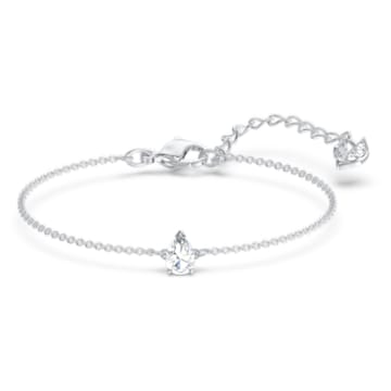 Tennis Deluxe set, Mixed crystals cut, White, Rhodium plated - Swarovski, 5570195