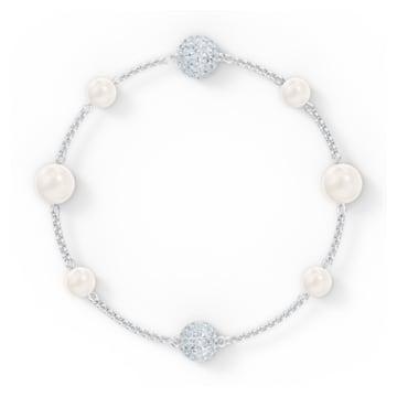 Swarovski Remix Collection Pearl Strand, White, Rhodium plated - Swarovski, 5570815