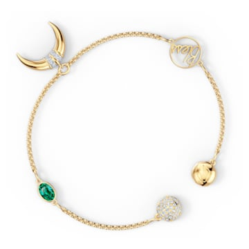 Strand Swarovski Remix Collection Horn, verde, baño tono oro - Swarovski, 5570838