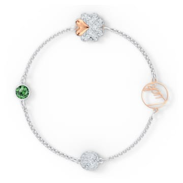 Strand Swarovski Remix Collection Clover, verde, mix di placcature - Swarovski, 5570840