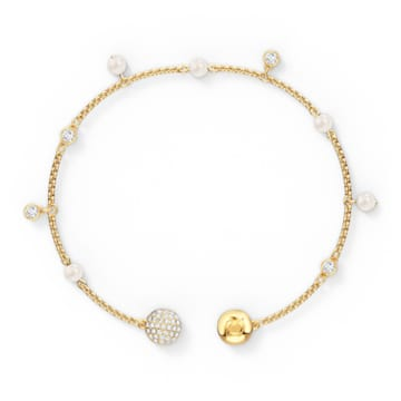 Swarovski Remix Collection Delicate Pearl Strand, weiss, vergoldet - Swarovski, 5572079