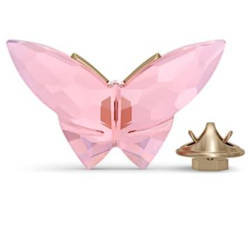Jungle Beats, магнит «Бабочка», розовый, большой - Swarovski, 5572154