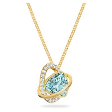 Outstanding pendant, Blue, Gold-tone plated - Swarovski, 5572167