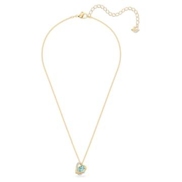 Outstanding 链坠, 蓝色, 镀金色调 - Swarovski, 5572167
