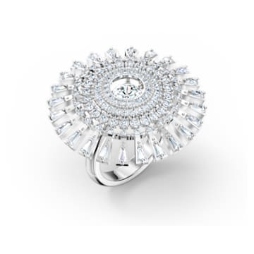 Swarovski Sparkling Dance Dial Up Ring, White, Rhodium plated - Swarovski, 5572512