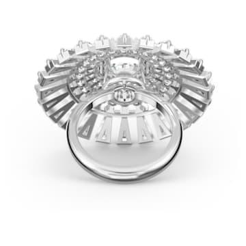 Pierścionek Swarovski Sparkling Dance Dial Up, biały, powlekany rodem - Swarovski, 5572514