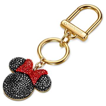 Minnie Подвеска на сумку, Черный Кристалл, Покрытие оттенка золота - Swarovski, 5572567