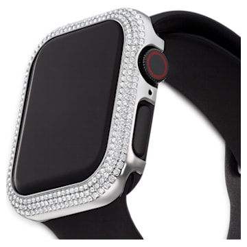 Sparkling Apple Watch ® kompatibilis tok, 40 mm, Ezüst tónusú - Swarovski, 5572573