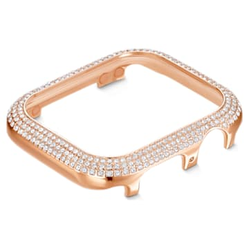Sparkling case compatible with Apple Watch®, 40 mm, Rose gold tone - Swarovski, 5572574