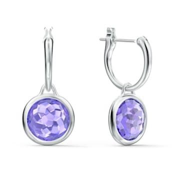 Tahlia Mini Kreolen, violett, rhodiniert - Swarovski, 5572586