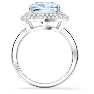 Prsten Angelic, modrý, rhodiovaný - Swarovski, 5572635