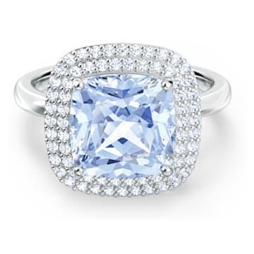 Bague Angelic, bleu, métal rhodié