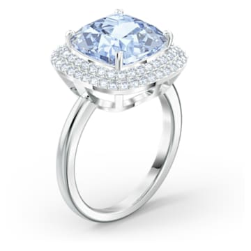 Angelic Ring, Blue, Rhodium plated - Swarovski, 5572637
