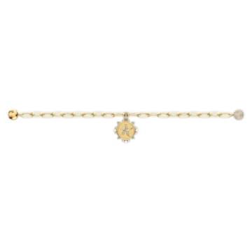 Pulsera The Elements Star, blanco, baño tono oro - Swarovski, 5572644