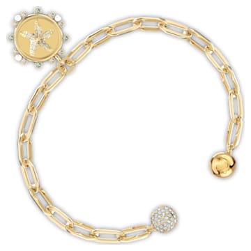 The Elements Star Bracelet, White, Gold-tone plated - Swarovski, 5572644