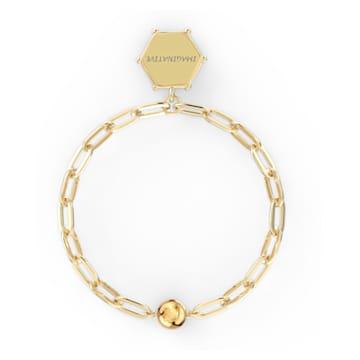 Bracelet The Elements Moon, bleu, métal doré - Swarovski, 5572650