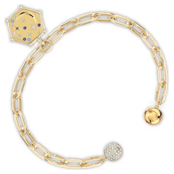 Bracelet The Elements Moon, bleu, métal doré - Swarovski, 5572651