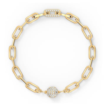 The Elements Chain Armband, weiss, vergoldet - Swarovski, 5572652
