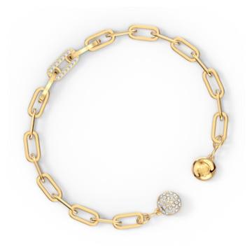 Bracelet The Elements Chain, blanc, métal doré - Swarovski, 5572652