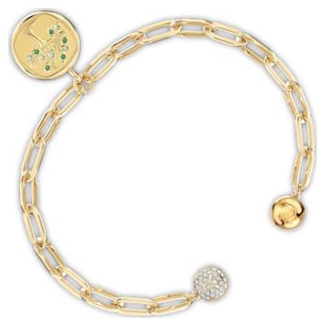 The Elements Tree Armband, grün, vergoldet - Swarovski, 5572653