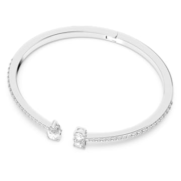 Manchette Attract, blanc, métal rhodié - Swarovski, 5572667