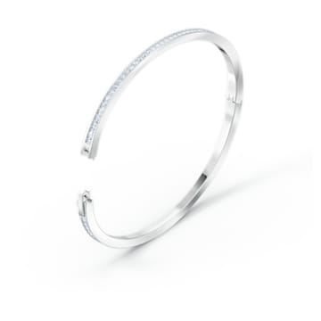 Rare Жёсткий браслет, Белый Кристалл, Родиевое покрытие - Swarovski, 5572678