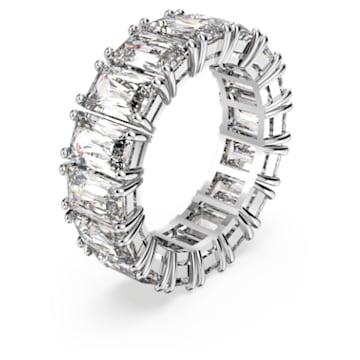 Vittore Wide Ring, weiss, rhodiniert - Swarovski, 5572686