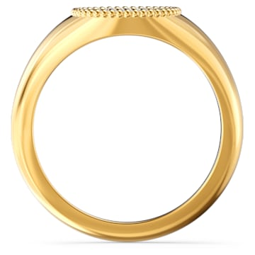 Ginger Signet Ring, White, Gold-tone plated - Swarovski, 5572694