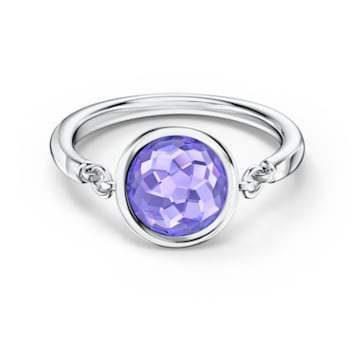 Tahlia Ring, Purple, Rhodium plated - Swarovski, 5572709