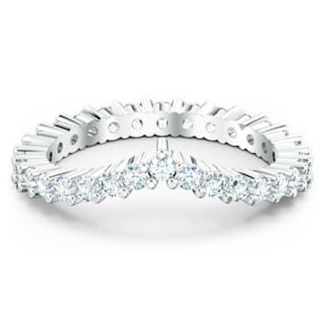 Vittore V Ring, White, Rhodium plated - Swarovski, 5572814