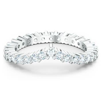 Vittore-V-ring, Wit, Rodium-verguld - Swarovski, 5572814