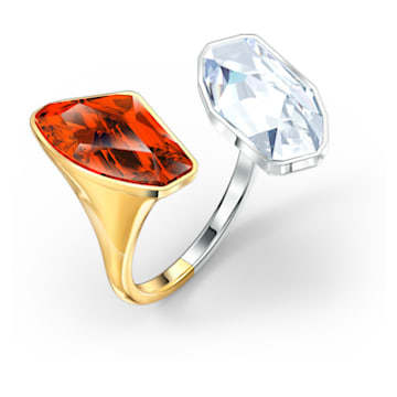 The Elements Ring, Red, Mixed metal finish - Swarovski, 5572883