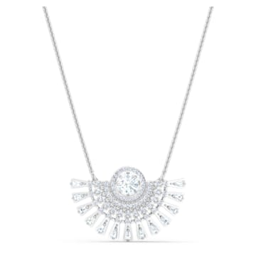 Swarovski Sparkling Dance Dial Up Necklace, Short, White, Rhodium plated - Swarovski, 5573694