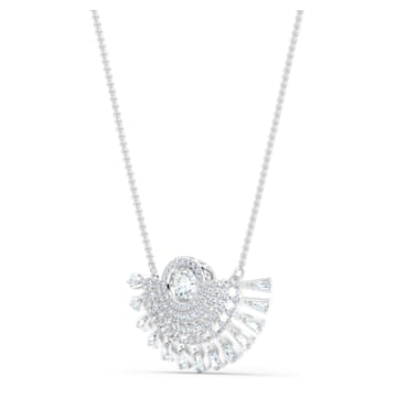 Swarovski Sparkling Dance Dial Up Necklace, Medium, White, Rhodium plated - Swarovski, 5573694