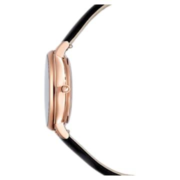 Crystalline Joy watch, Leather strap, Black, Crystalline Joy watch - Swarovski, 5573857