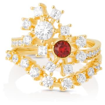 Icons of Film 戒指, 红色, 镀金色调 - Swarovski, 5573963