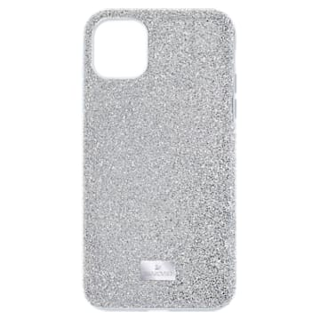 High smartphone case , iPhone® 12 mini, Silver Tone - Swarovski, 5574042